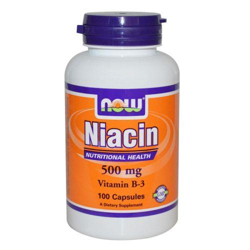 Витамин B-3 – Ниацин 500мг. Now, 100бр. -