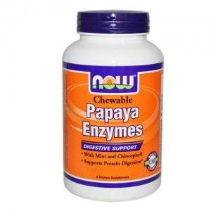 Papaya Enzymes, Now, 180 бр.