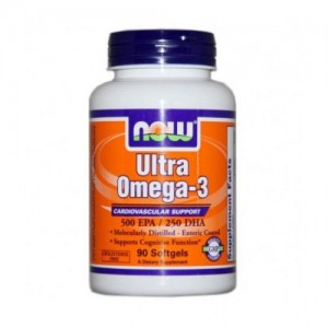 Ultra Omega-3 Fish Oil, Now, 90 бр.