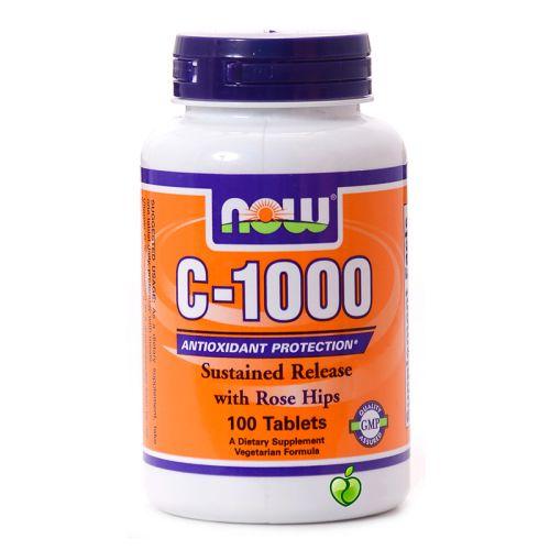 Витамин C-1000 с постепенно освобождаване Now, 100бр. -