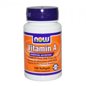 Vitamin A 10,000 IU, Now, 100 бр.