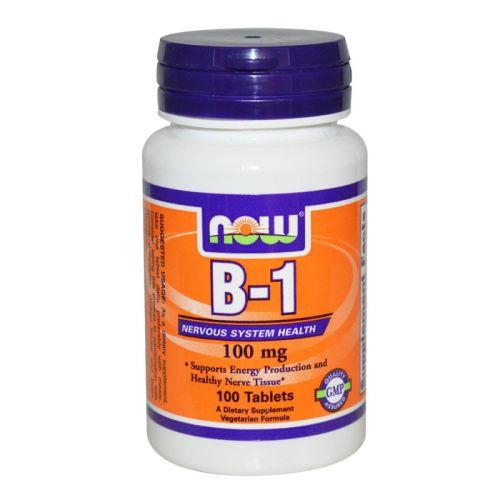 Витамин B-1 – Тиамин 100мг. Now, 100бр. - Now