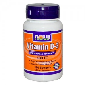 Vitamin D-3 400 IU, Now, 180 бр.