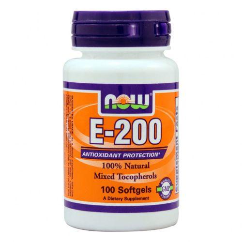 Витамин Е 200 IU Now, 100бр. -