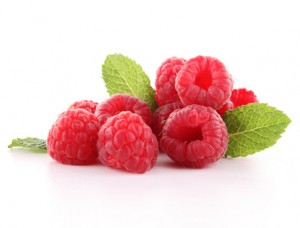 isolated raspberry