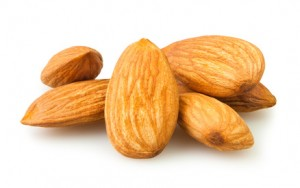 almond group on white background